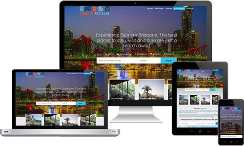 Tourism Brisbane displayed beautifully on multiple devices